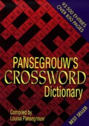 Cover of: Pansegrouw's Crossword Dictionary by Louisa Pansegrouw