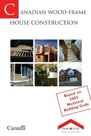 Cover of: Canadian wood-frame house construction. | John Burrows