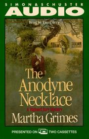 Cover of: The Anodyne Necklace (Richard Jury Mysteries (Audio))