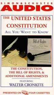Cover of: The ALL YOU WANT TO KNOW ABOUT UNITED STATES CONSTITUTION