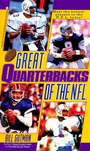 Cover of: Great Quarterbacks of the NFL