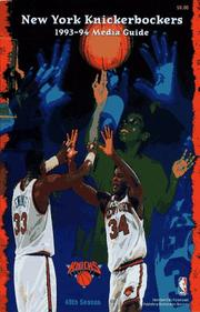 Cover of: Knicks 1993 - 1994 Media Guide | Ny knicks
