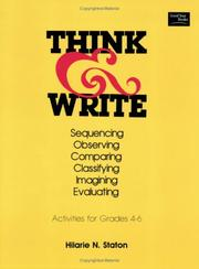 Cover of: Think And Write | Hilarie Staton