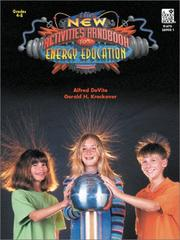 Cover of: New Activities Handbook For Energy Education | Alfred De Vito