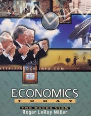 Cover of: Economics Today | Roger LeRoy Miller