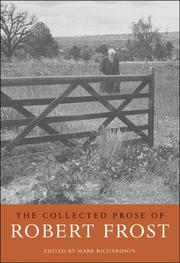 Cover of: The Collected Prose of Robert Frost