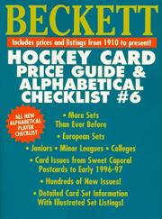 Cover of: Beckett Hockey Card Price Guide (Beckett Hockey Card Price Guide & Alphabetical Checklist)