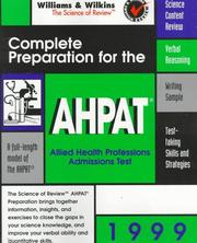 Cover of: Complete Preparation for the AHPAT | Williams & Wilkins Review