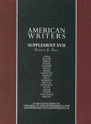 Cover of: American Writers Supplement XVII | Jay Parini
