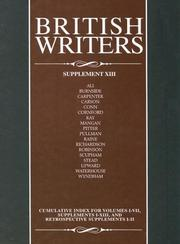 Cover of: British Writers (British Writers Supplements) | Jay Parini