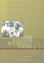 Cover of: The Eleanor Roosevelt Papers