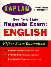 Cover of: Kaplan New York State Regents Exam