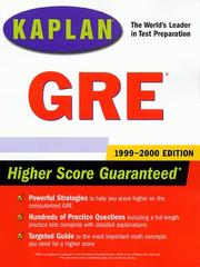 Cover of: Kaplan GRE 1999-2000 (Annual)