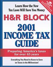 Cover of: H&R Block 2001 Income Tax Guide