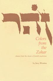 Cover of: Colors from the Zohar | Jerry Winston
