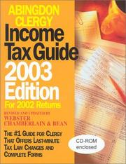 Cover of: Abingdon Clergy Income Tax Guide 2003