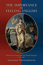 Cover of: The Importance of Feeling English