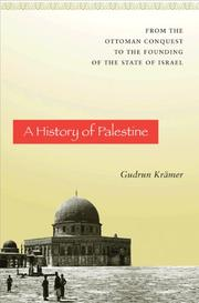 Cover of: A History of Palestine |