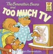 Cover of: Berenstain Bears & Too Much TV