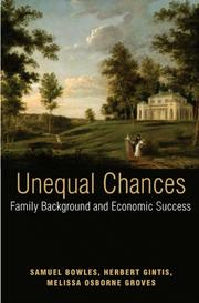 Cover of: Unequal Chances |