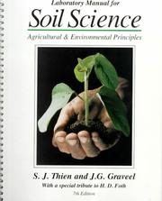 Cover of: Laboratory Manual for Soil and Environmental Science | Steven.thien