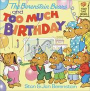 Cover of: Berenstain Bears & Too Much Birthday