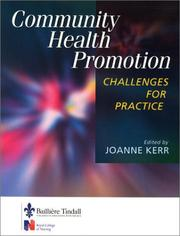 Cover of: Community Health Promotion