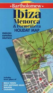 Cover of: Bartholomew Ibiza and Menorca holiday map (Bartholomew Holiday Map) | Bartholomew (Firm)