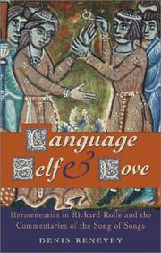 Cover of: Language, Self and Love | Denis Renevey