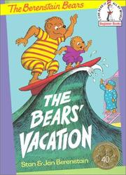 Cover of: Bears' Vacation (Beginner Books(R))