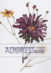 Cover of: The Royal Horticultural Society Address Book (Rhs Address Book)