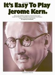 Cover of: It's Easy to Play Jerome Kern (It's Easy to Play)