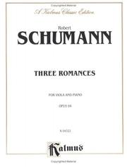 Cover of: Three Romances, Op. 94