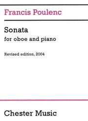 Cover of: Sonata for Oboe and Piano with Booklet