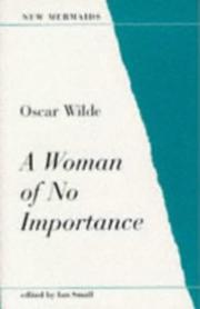 Cover of: A Woman of No Importance