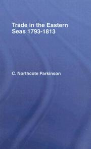 Cover of: Trade in Eastern Seas 1793-18 | C. Northcote Parkinson