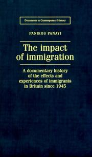 Cover of: The Impact of Immigration