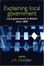 Cover of: Explaining local government