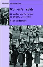 Cover of: Women, Politics and Society in Great Britain c. 1770-1970 | Fiona Montgomery