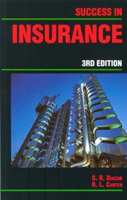 Success in Insurance (Success Studybooks) by S.R. Diacon, R.L. Carter