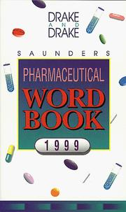 Cover of: Saunders pharmaceutical word book, 1999