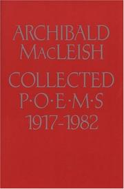 Cover of: Collected poems, 1917-1982