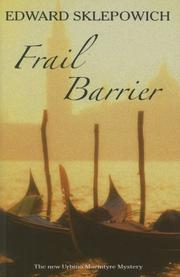 Cover of: Frail Barrier (Urbino Macintyre Venetian Mysteries, No. 8)