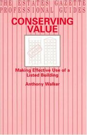 Cover of: Conserving Value | Anthony Walker