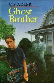Cover of: Ghost brother | C. S. Adler