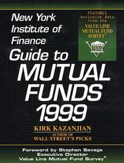 Cover of: New York Institute of Finance Guide to Mutual Funds 1999 (Mutual Fund Investor's Guide)