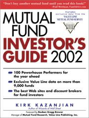 Cover of: Mutual Fund Investor's Guide 2002