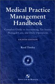 Cover of: Medical Practice Management Handbook