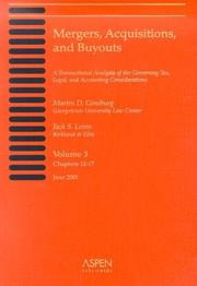 Cover of: Mergers, Acquisitions, and Buyouts, Volume 3 (Chapters 12-17) | Martin D. Ginsburg