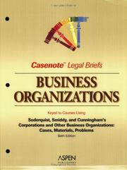Cover of: Business Organizations | Casenotes